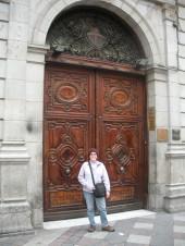 old doors in Madrid