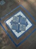 Coat of arms tiles in the walkway of the gardens: alcázar, Sevilla