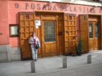 the door to my favorite restaurant in Madrid: Posada de la Villa