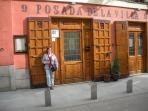 the door to my favorite restaurant in Madrid: Posada de la Villa