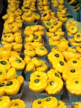Patty pan squash at the farmers' market in St. Paul