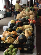 That's a lot of squash! Farmers' market St. Paul