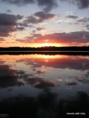 11th Crow Wing Lake-more reflections in the water