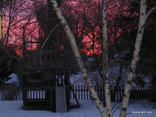 Sunrise, winter in Minnesota