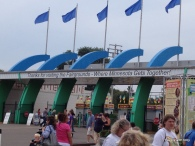Minnesota state fair front gate from the inside