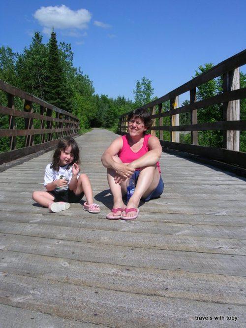 Sitting on the bridge