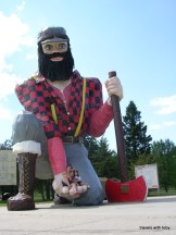 sitting in Paul Bunyan's hand, Akeley
