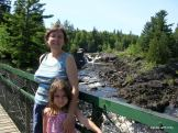 on the old swinging bridge, Jay Cooke state park