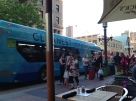 Electric buses aplenty. Minneapolis, the modern, the cool.