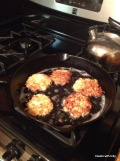 crunchy, crunchy, oh yum-latkes for our Hanukah meal