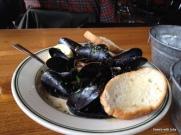 champagne mussels, mmmmmm
