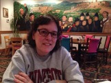 not my favorite photo of myself but the mural came out well. I'm sportin' the flower from my drink