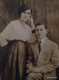 my mother's parents, possibly their wedding day 1917