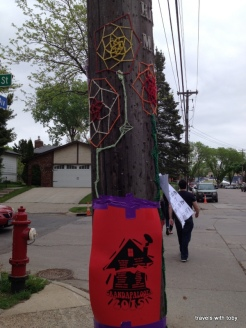 telephone pole art