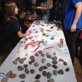 rock painting station