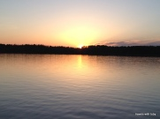 sunset, Akeley MN