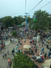 from the sky ride-MN state fair