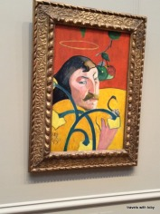 Gauguin's very interesting self portrait