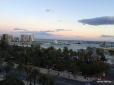 Málaga at sunset
