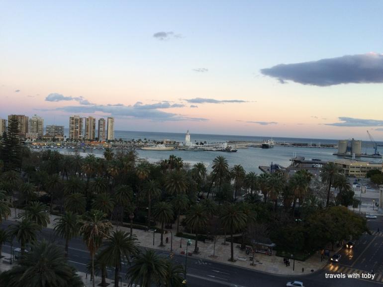 Malaga at sunset