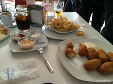 croquetas and calamares in Córdoba