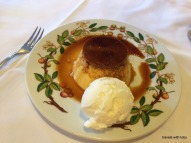 the only flan that I had