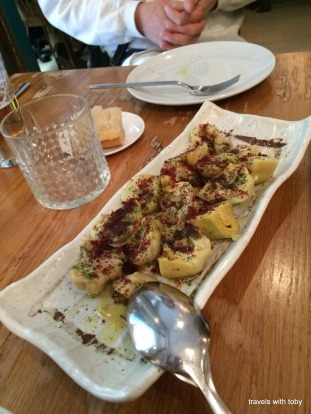 artichoke starter to die for! Vinoteca Moratín