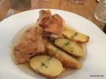 succulent roast chicken and potatoes, Vinoteca Moratín