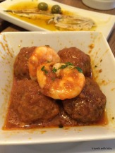 meatballs and shrimp, yum!