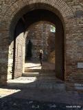 starting the climb up into the alcazaba
