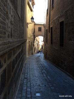 typical street in Toledo Spain
