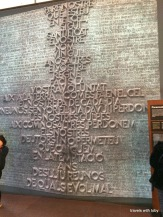 The Lord's Prayer-this was a picture of what it will look like in granite I believe