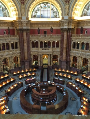 the reading room from the overlook(Library of Congress, D.C.)