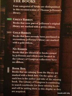 guide to Jefferson's library exhibit