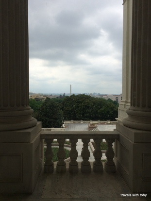 view of D.C. from the capitol. that's the Washington monument in the distance