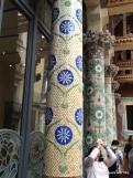 beautiful tiled pillars