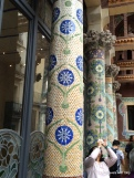 beautiful tiled pillars