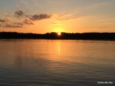 sunset 11th Crow Wing Lake, summer 2016