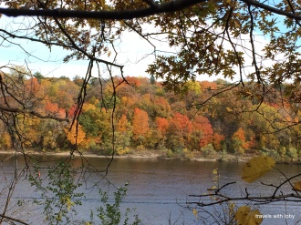 autumn on the Mississippi River