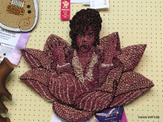 Crop art at the fair featuring Prince