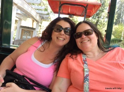 sisters (my nieces) on tram tour of Benziger winery