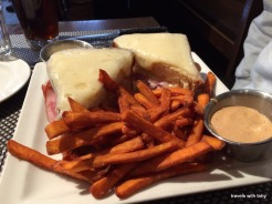 ham and cheese and sweet potato fries
