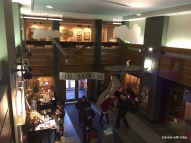 Bell Museum: view of entry from second floor