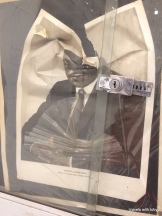 a drawing/photo of MLK that is crumpled