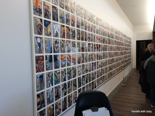 wall of photos, another angle