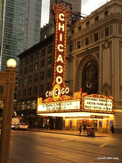 the Chicago Theatre, State Street