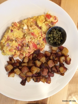 Yolk: salmon scrambler and spuds
