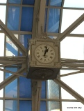 Ogilvie Transportation Center with clock from the town where I was born: Elgin