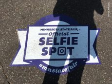 funniest thing I saw this year: several official selfie spots in the pavement