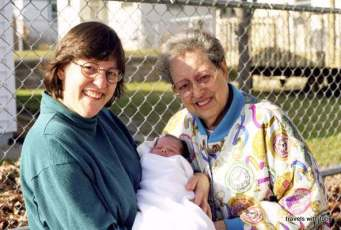 Miss M, last grandchild, 1999